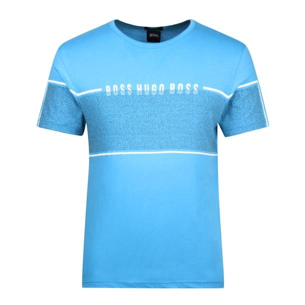 1522d02096f14 Boss Athleisure T-Shirts, Blue Placement Print T Shirt for Men at ...