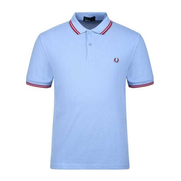 aba4a4fd7 Fred Perry Polos, Light Blue Twin Tipped Logo Polo for Men at ...