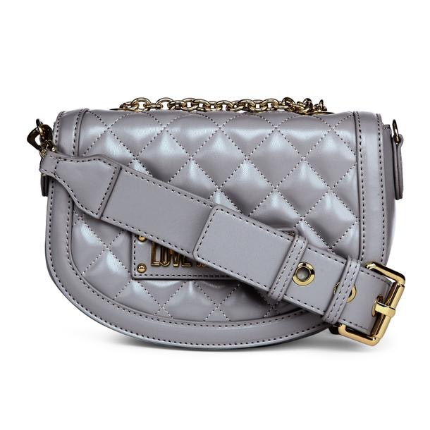 e96d5b1630ed4 Love Moschino Bags, Grey Quilted Crossbody Bag for Women at ...