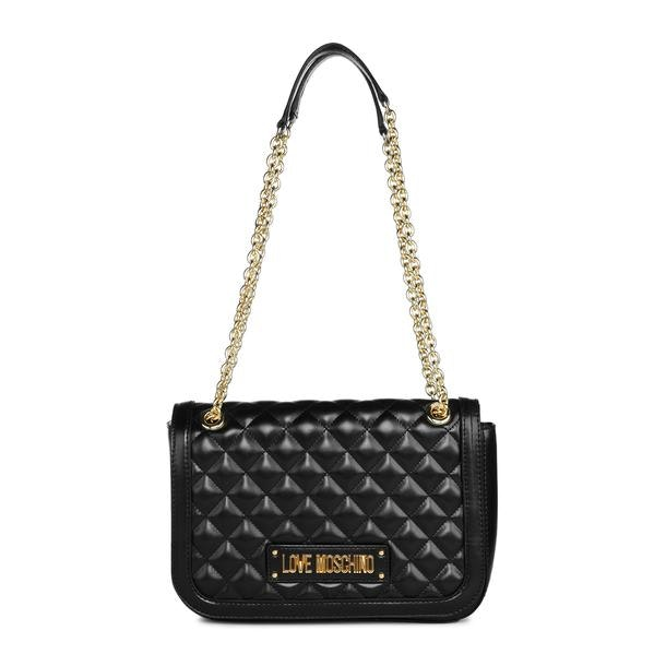 82709b99dd8 Love Moschino Bags, Black Quilted Shoulder Bag for Women at ...