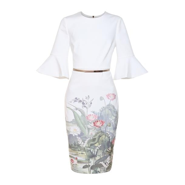 18b834cadfbe Ted Baker Dresses, Cream Floral Printed Dress for Women at ...