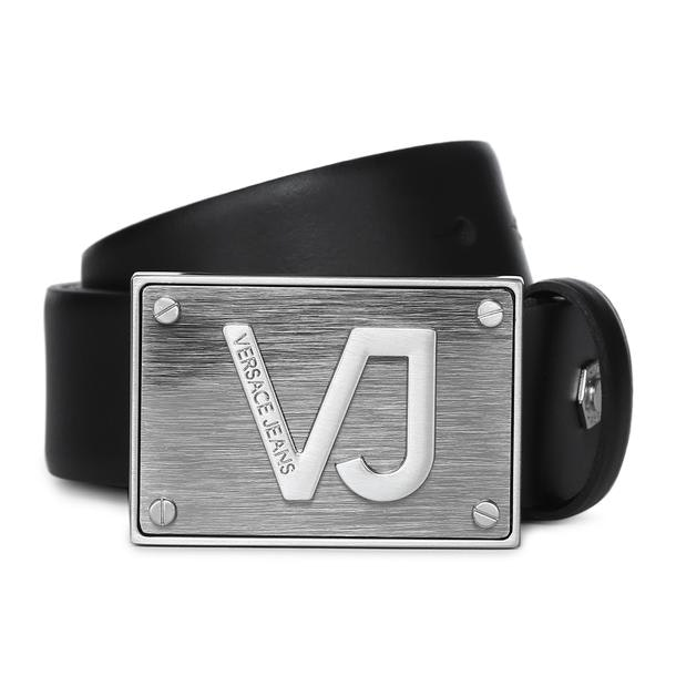 c520612c Versace Jeans Belts And Buckle, Black Leather Belt for Men at ...