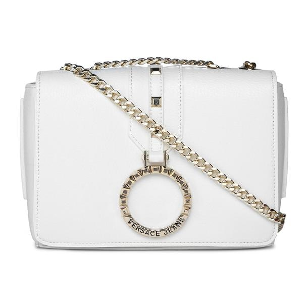 ed66f5b1c4 Versace Jeans Bags, White Boxy Crossbody Bag for Women at ...