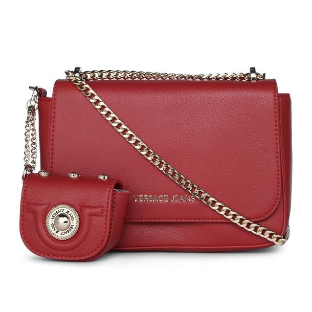 1768aac9865 Versace Jeans Bags, Red Grainy Crossbody Bag for Women at ...