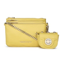 Yellow Grainy Crossbody Bag. NEW. Versace Jeans ba6b861bf16cf