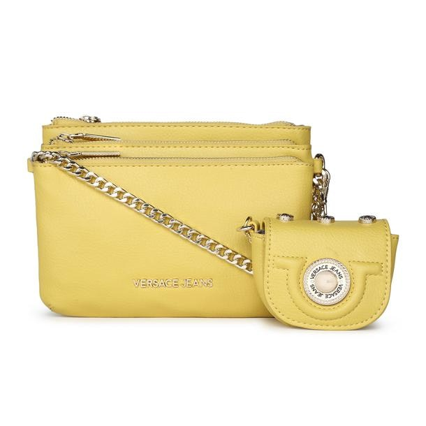 f6f46e458410 Versace Jeans Bags, Yellow Grainy Crossbody Bag for Women at ...