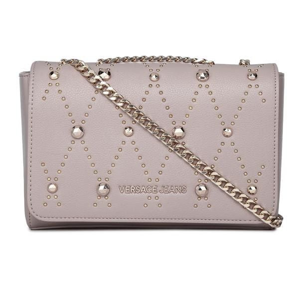 37ea7f7e6616b Versace Jeans Bags, Beige Studded Crossbody Bag for Women at ...