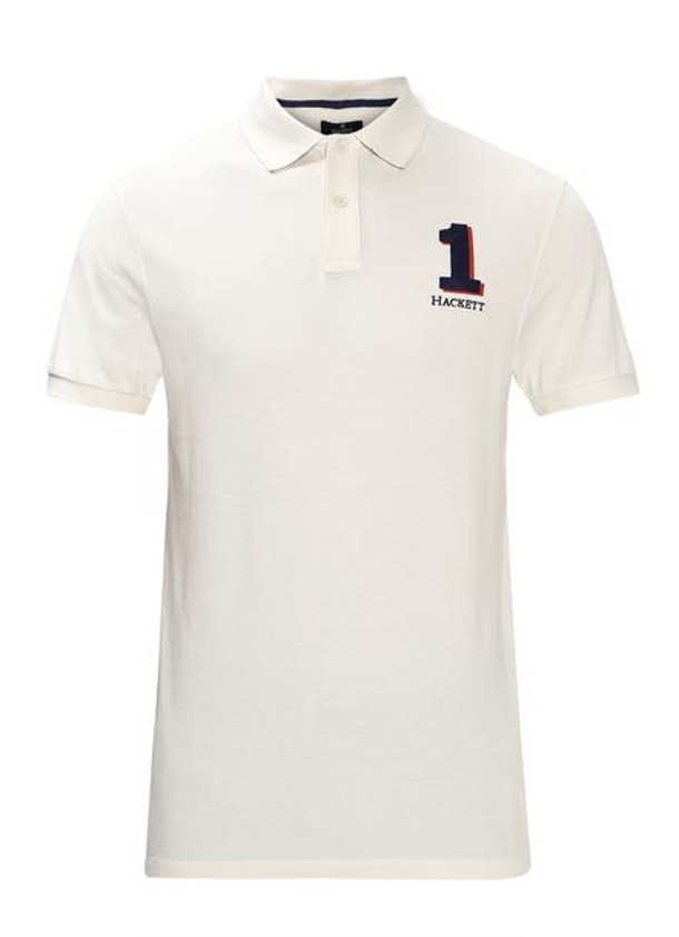 0f33c71e4 HACKETT LONDON Polo & Rugby Shirts, White Logo Polo for MEN at ...