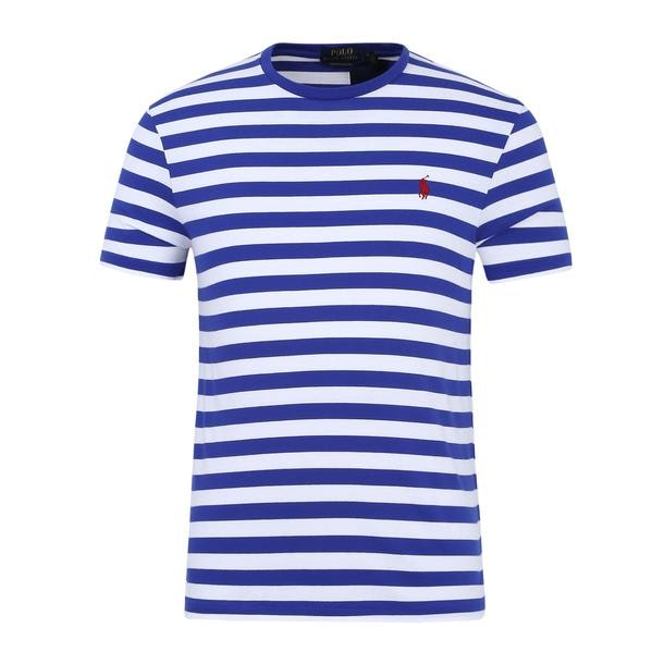 f39a3681 Polo Ralph Lauren T-Shirts, Royal Blue Striped T Shirt for Men at ...