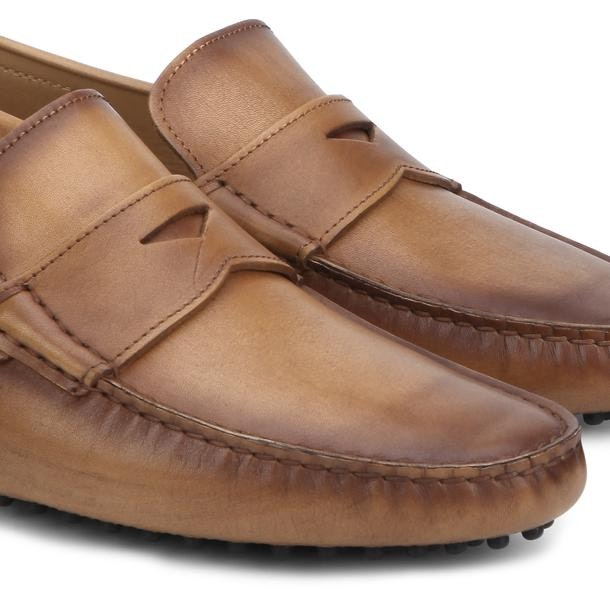 f6cd479a5b820 Patrizio Dolci Shoes, Tan Shaded Penny Loafers for Men at ...