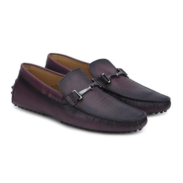 0d51783117a1d Patrizio Dolci Shoes, Wine Grainy Horse Bit Loafers for Men at ...