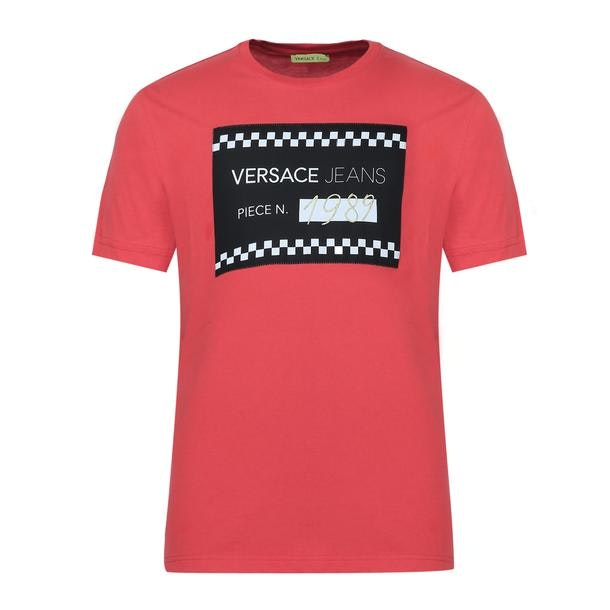 80d17e6b6 Versace Jeans T-Shirts, Red Printed T Shirt for Men at Thecollective.in