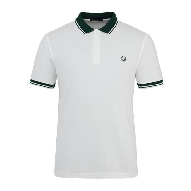 8784fa97e Fred Perry Polos, White Tipped Collar Polo for Men at Thecollective.in