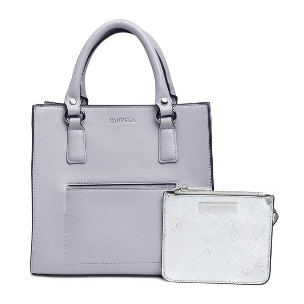 7b7e7cf7c Carvela Bags, Grey Mini Tote Bag With Pouch for Women at ...