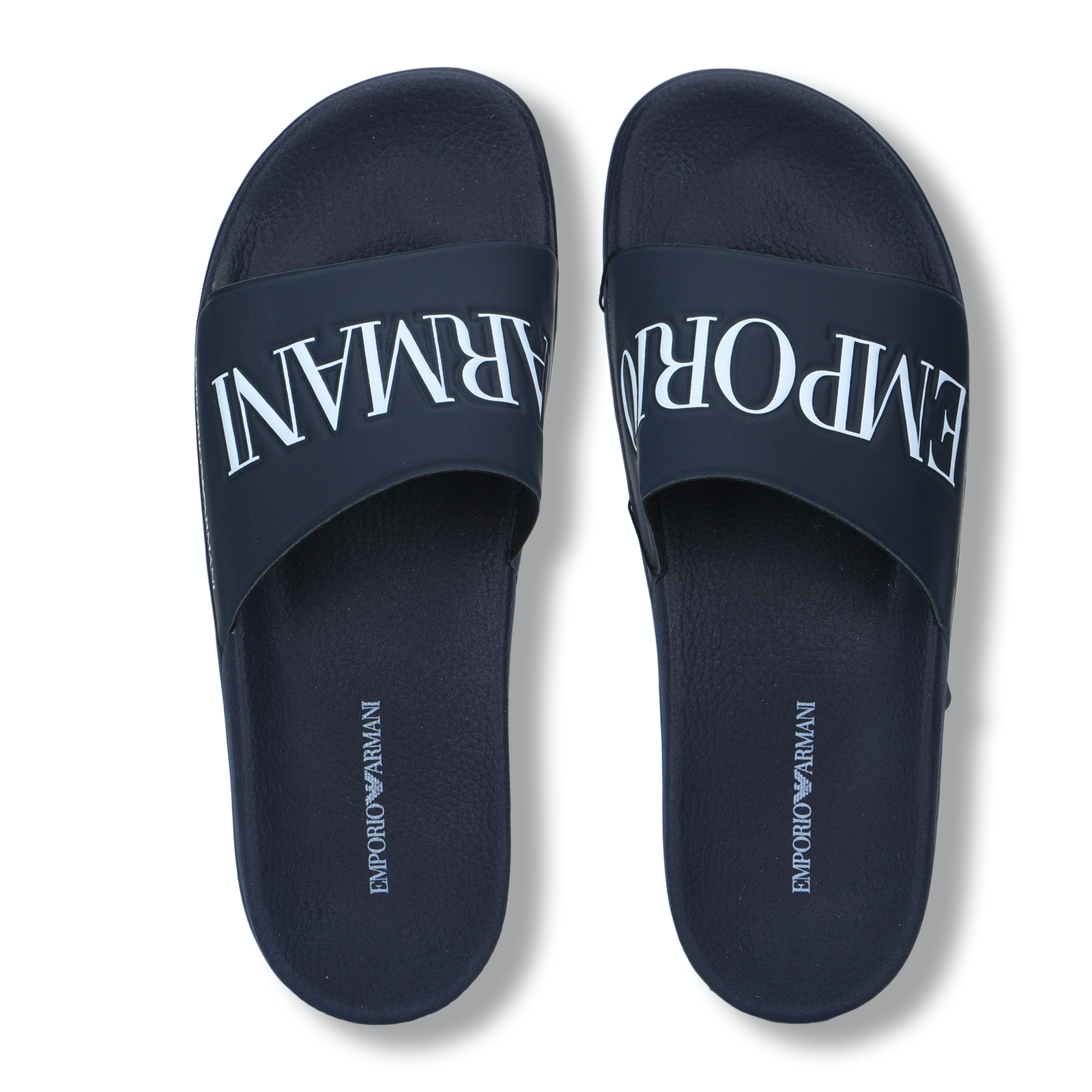 Emporio Armani Shoes, Navy Embossed