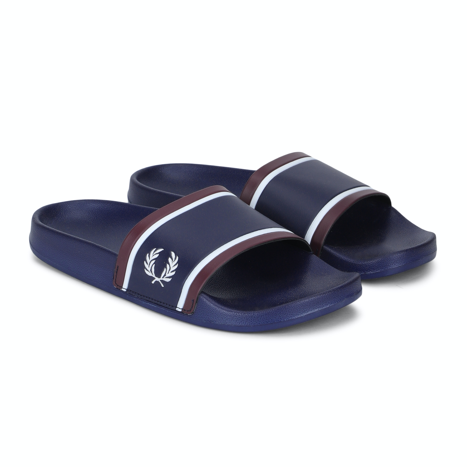 Fred Perry Shoes, Navy Striped Slider