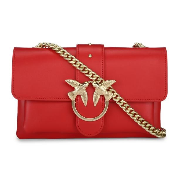 997227eafee Pinko Bags, Red Riveted Crossbody Bag for Women at Thecollective.in