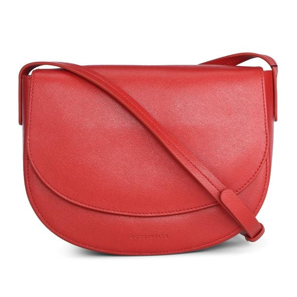 8164fccf3 Coccinelle Bags, Red Grainy Saddle Satchel Bag for Women at ...