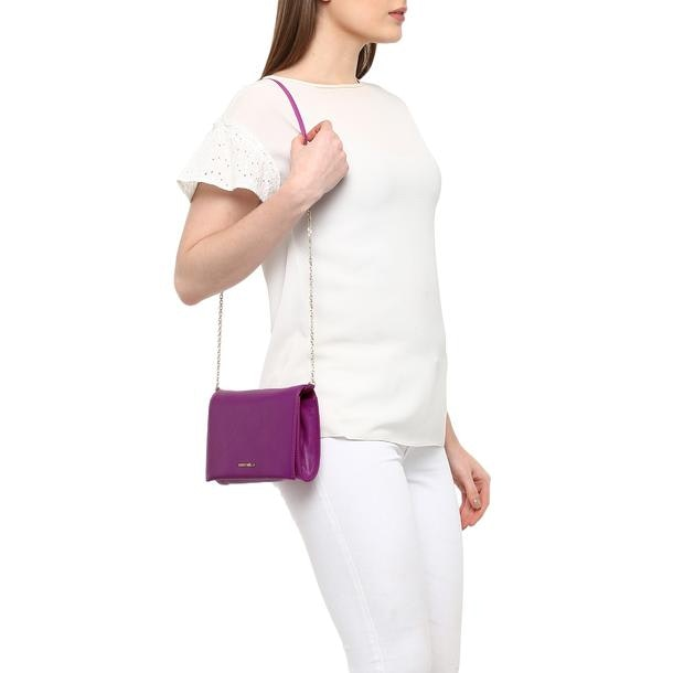 98fb7d8368f Coccinelle Bags, Purple Crisp Satchel Bag for Women at Thecollective.in