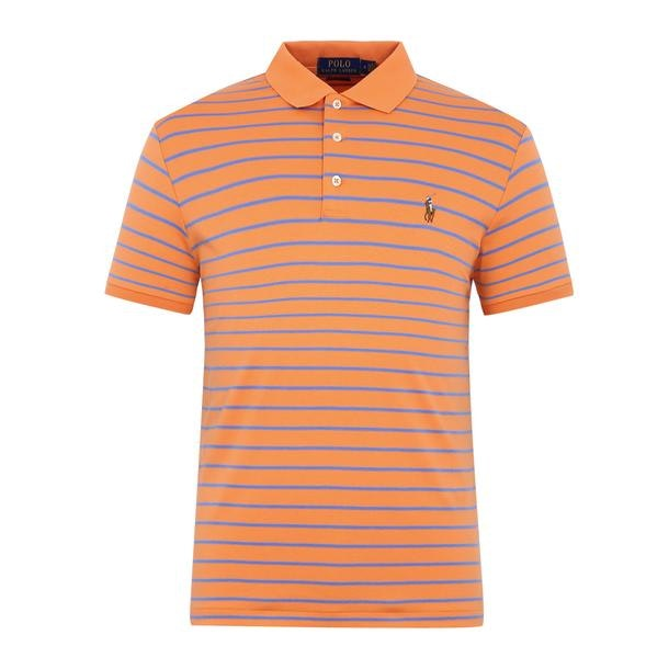31868d260447 Polo Ralph Lauren Polos, Orange Striped Polo for Men at Thecollective.in