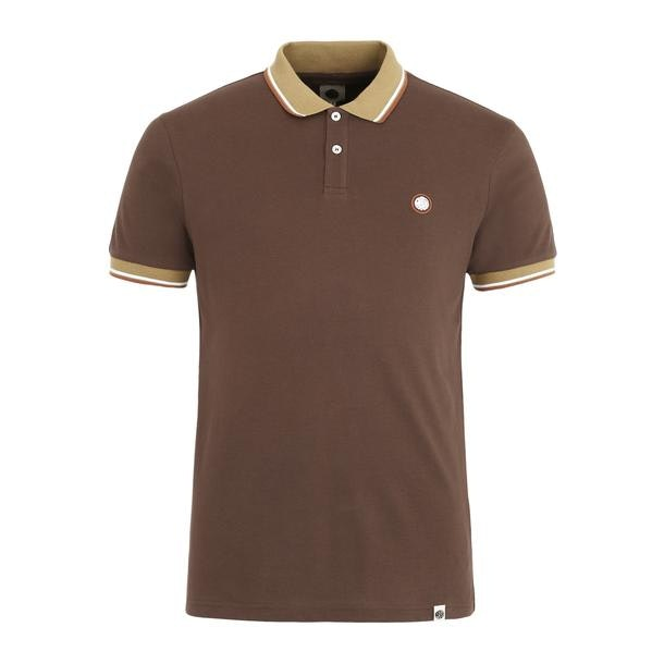 18e8fa46 Pretty Green Polos, Brown Logo Polo for Men at Thecollective.in