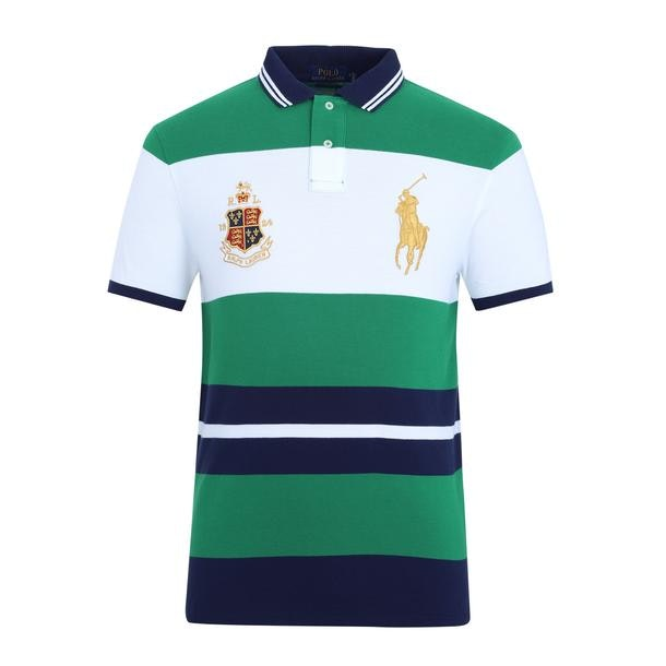 a213935195eb Polo Ralph Lauren Polos, Green Colour Blocked Logo Polo for Men at ...